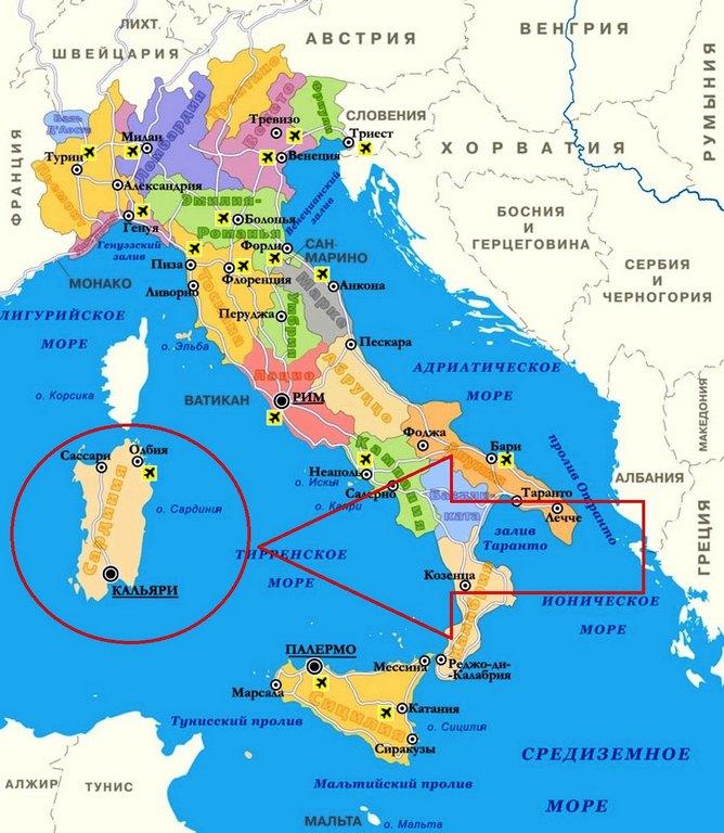 Остров Сардиния на фото