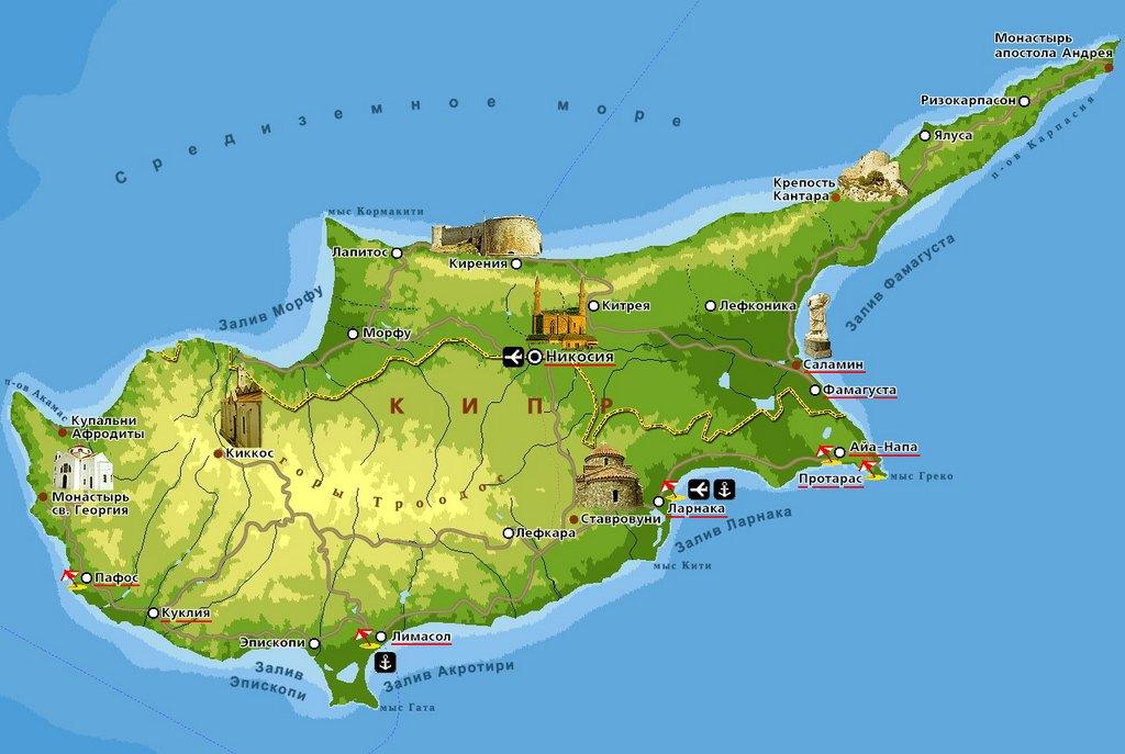 Кипр. Карта