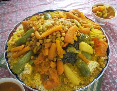 Кус-кус с овощами и нутом (горохом)
