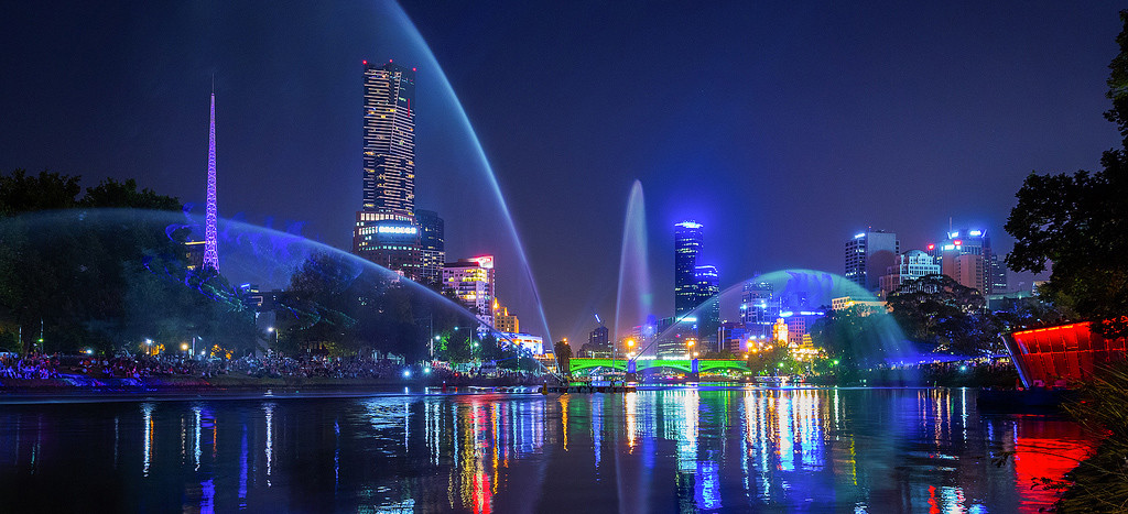 Мельбурн ночью1